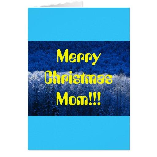 ¡Mamá de las Felices Navidad!!! Tarjeta De Felicitación
