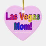 ¡Mamá de Las Vegas! Ornamento del corazón Ornamento De Navidad