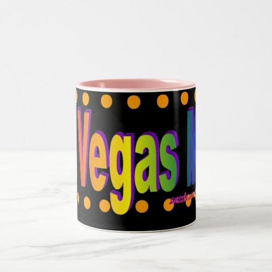 ¡Mamá de Las Vegas! Taza negra del fondo