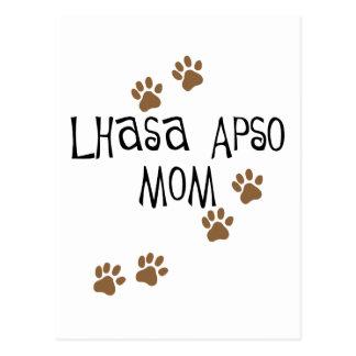 Mamá de Lasa Apso Tarjetas Postales