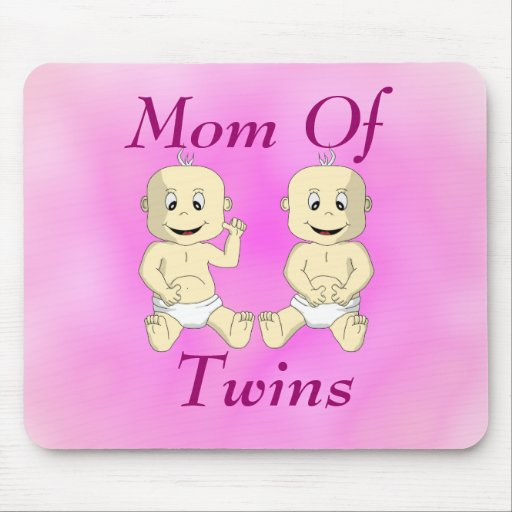 Mamá de los bebés gemelos Mousepad