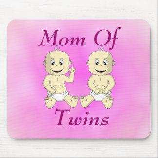 Mamá de los bebés gemelos Mousepad Alfombrillas De Raton