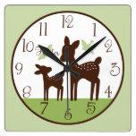 Mamá de los ciervos del sauce y reloj personalizad
