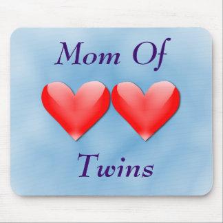 Mamá de los corazones dobles Mousepad de los gemel Alfombrilla De Raton