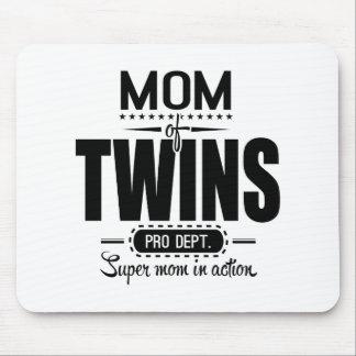 Mamá de los gemelos favorable Dept. Super Mom en Alfombrilla De Raton