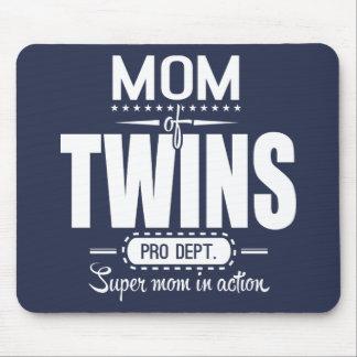 Mamá de los gemelos favorable Dept. Super Mom en Alfombrillas De Raton