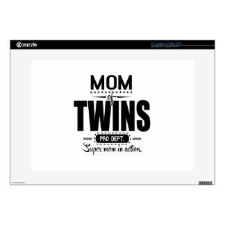 Mamá de los gemelos favorable Dept. Super Mom en Skins Para 38,1cm Portátiles