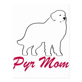 Mamá de los grandes Pirineos Postal