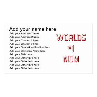 Mamá de los mundos #1 tarjetas de visita