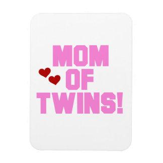 Mamá de los regalos rosados del texto de los gemel imán rectangular