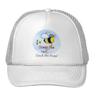 Mamá de los tríos - abeja reina gorros