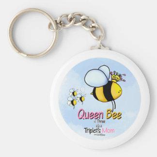 Mamá de los tríos - abeja reina llaveros