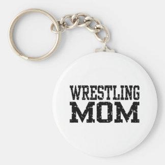 Mamá de lucha llavero redondo tipo pin