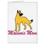 Mamá de Malinois del belga Felicitación
