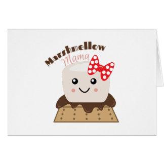 Mamá de Marshmellow Tarjeta De Felicitación