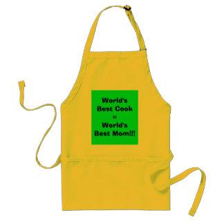 ¡Mamá de mejor Cook World del mundo la mejor Delantal