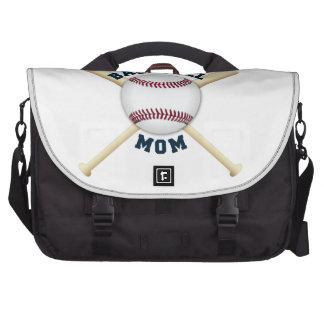 Mamá de moda del béisbol bolsas de portatil