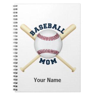 Mamá de moda del béisbol note book