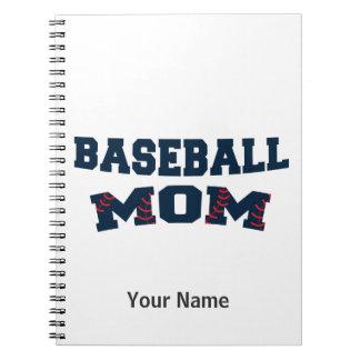 Mamá de moda del béisbol spiral notebooks
