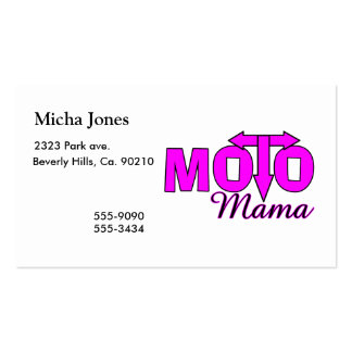 Mamá de Moto Tarjetas De Visita