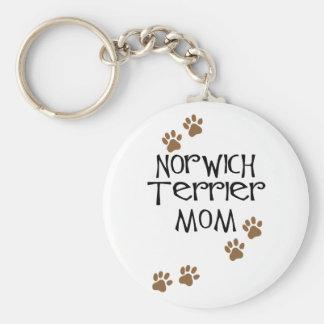 Mamá de Norwich Terrier para las mamáes del perro Llavero Redondo Tipo Pin