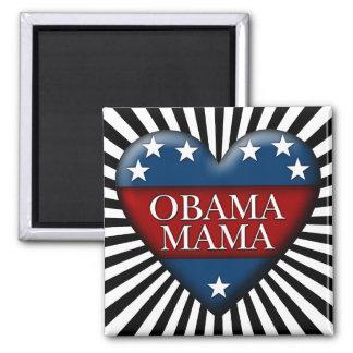 mamá de obama imán cuadrado