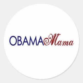 Mamá de Obama Pegatinas Redondas