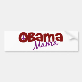 Mamá de Obama Pegatina De Parachoque