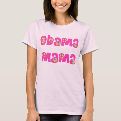 Mamá de Obama (rosa y verde) Playera