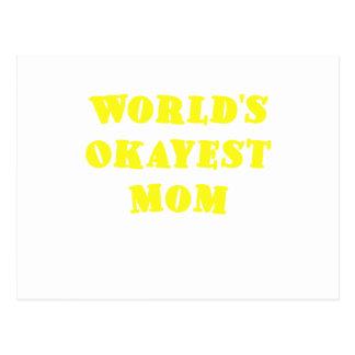 Mamá de Okayest de los mundos Postales