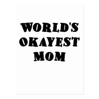 Mamá de Okayest de los mundos Tarjetas Postales
