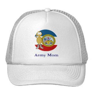 Mamá de oro de la piel del ejército gorras