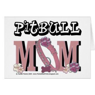 MAMÁ de Pitbull Tarjeta De Felicitación