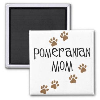 Mamá de Pomeranian Imán Cuadrado