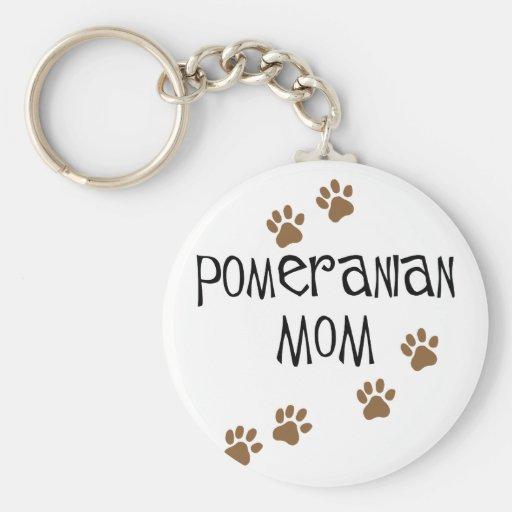 Mamá de Pomeranian Llaveros