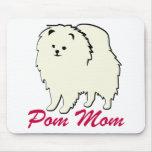 Mamá de Pomeranian Pom Tapetes De Ratones