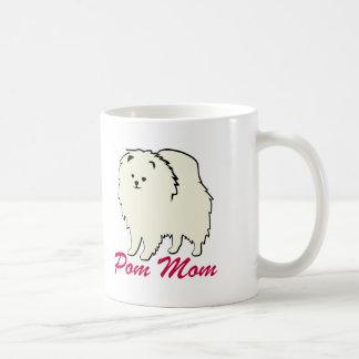 Mamá de Pomeranian Pom Taza