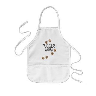 Mamá de Puggle Delantal Infantil