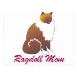 Mamá de Ragdoll Tarjeta Postal
