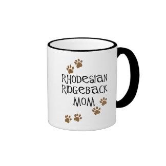 Mamá de Rhodesian Ridgeback Taza De Dos Colores