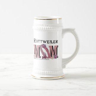 MAMÁ de Rottweiler Jarra De Cerveza