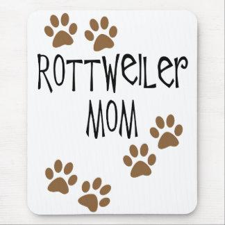 Mamá de Rottweiler Tapetes De Ratones