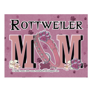 MAMÁ de Rottweiler Tarjeta Postal