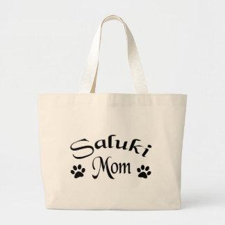 Mamá de Saluki (texto de lujo) Bolsa Tela Grande