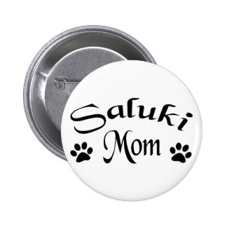 Mamá de Saluki (texto de lujo) Pin Redondo 5 Cm