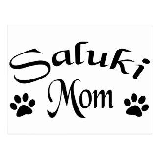 Mamá de Saluki (texto de lujo) Tarjeta Postal
