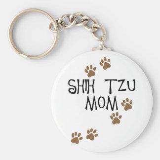 Mamá de Shih Tzu Llaveros Personalizados