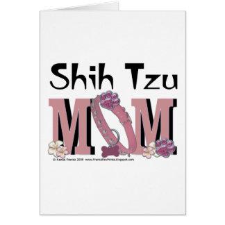 MAMÁ de Shih Tzu Tarjeta De Felicitación