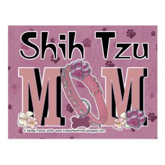 MAMÁ de Shih Tzu Tarjeta Postal