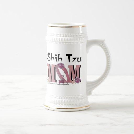 MAMÁ de Shih Tzu Tazas De Café